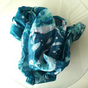 nwt Fashion Scarf Face Wrap blue
